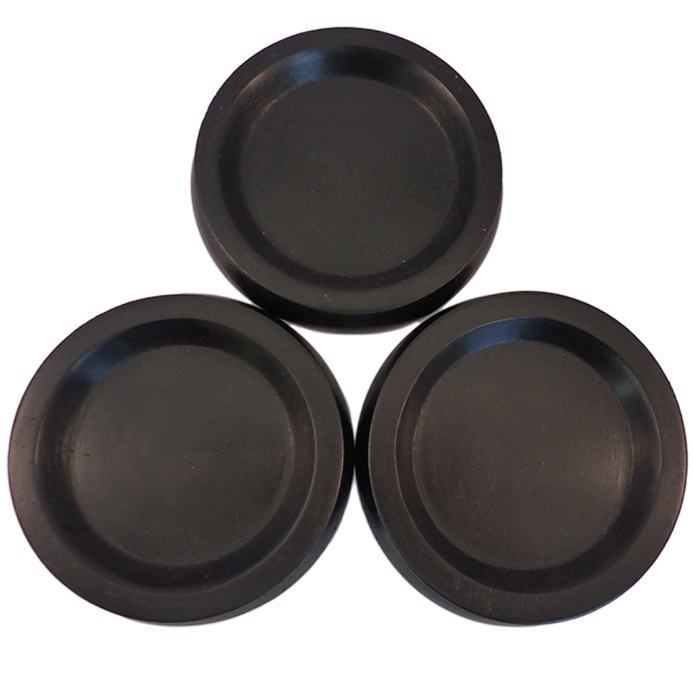 Castor Cups Medium Black wood - set of 3